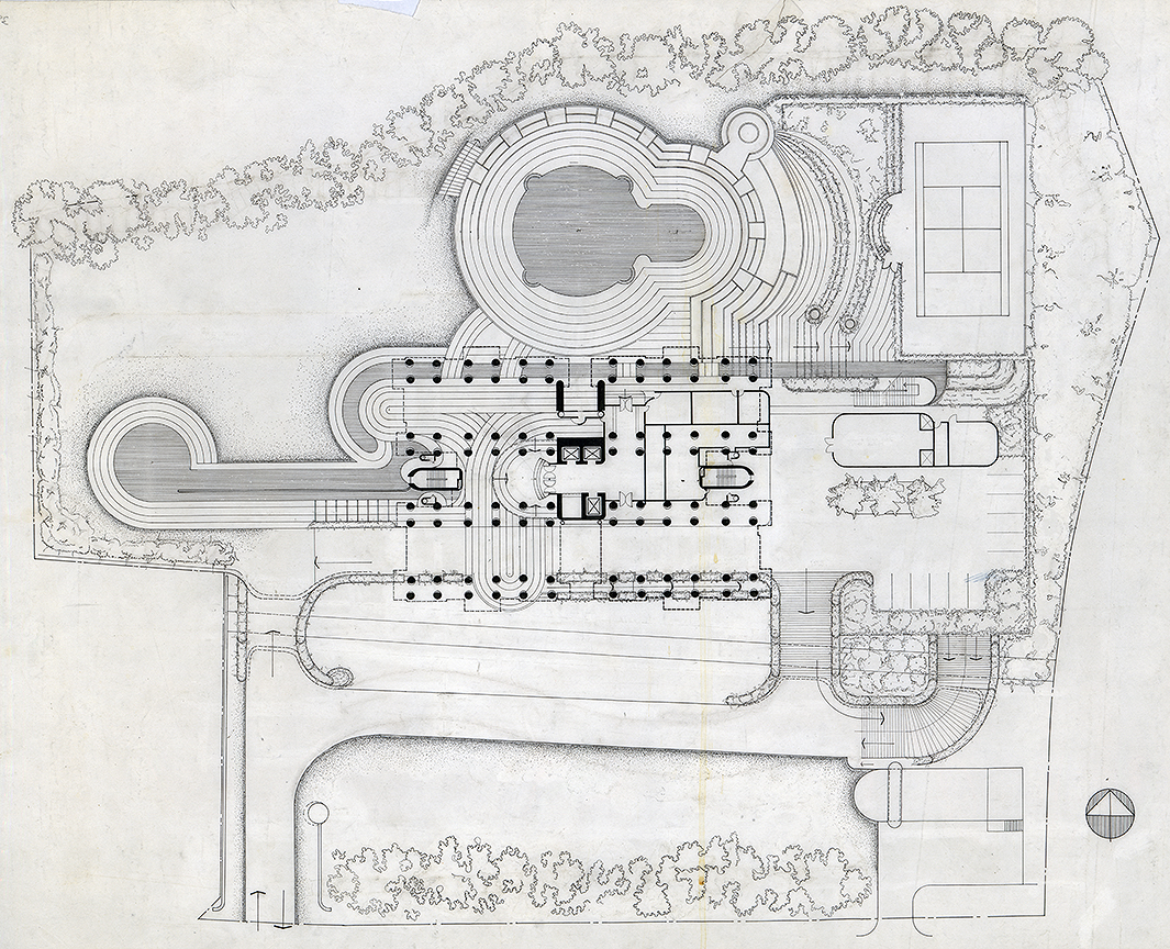 Colonnade Condominium, Grange Road and Orchard Road, Singapore. Rendered Site Plan.