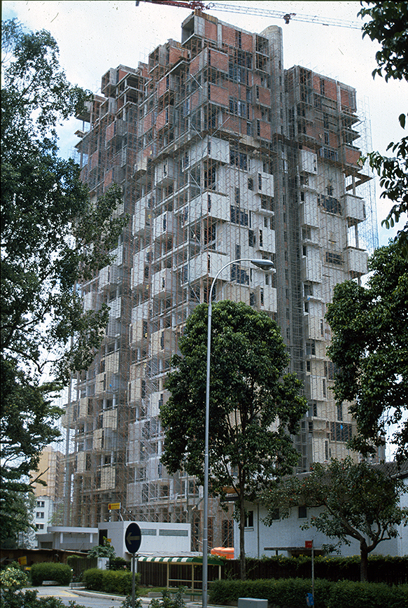 Colonnade Condominium, Grange Road and Orchard Road, Singapore. Photo of Building Under Construction.