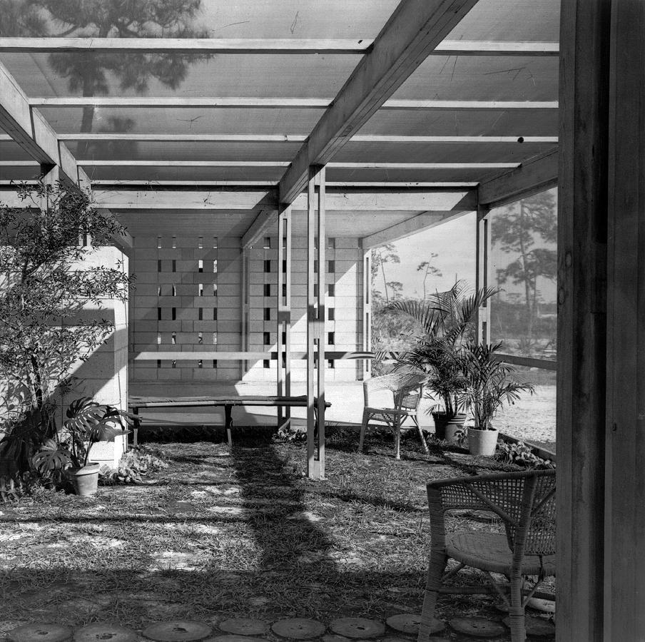 Maehlman Guest House, Naples, Florida. Photo of Building Interior.