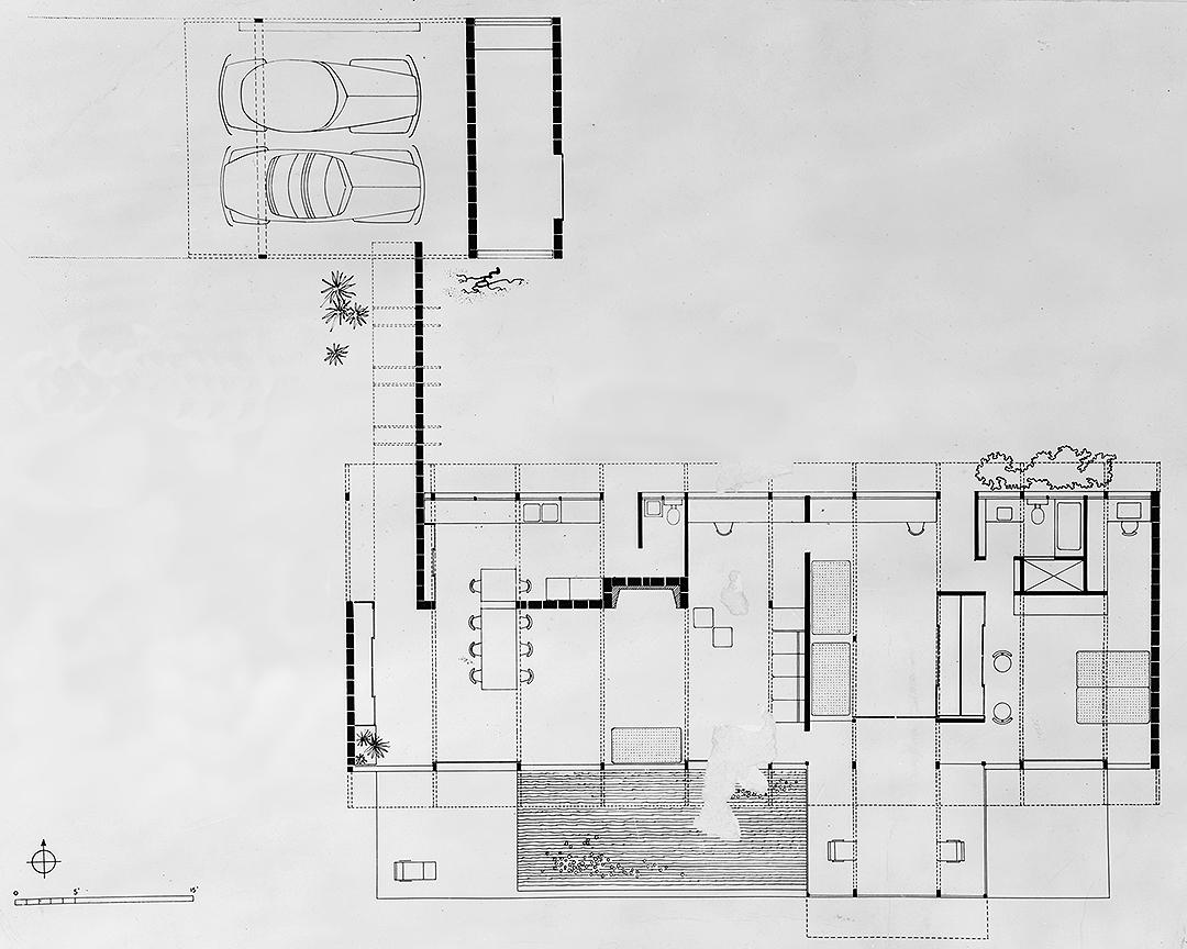 Siegrist Residence, Venice, Florida. Floor Plan.