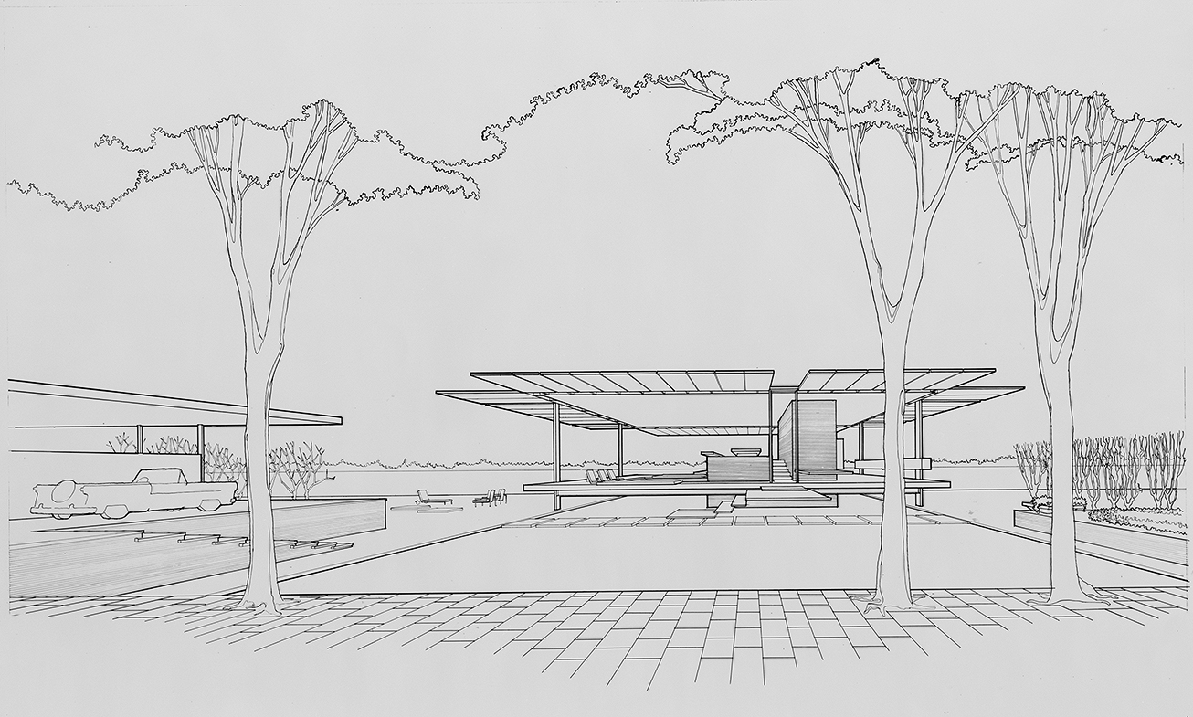 Grand Rapids Homestyle Center Residence, Grand Rapids, Michigan. Perspective Rendering.