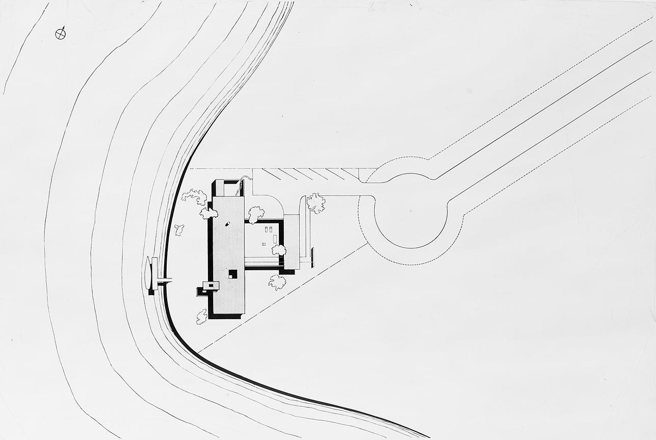 Burnette Residence, Sarasota, Florida. Site Plan.