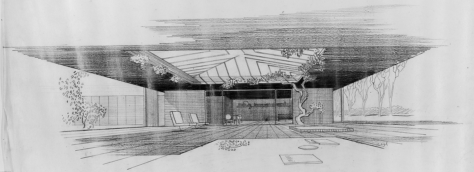Taylor Residence, Venice, Florida. Interior Perspective Rendering.