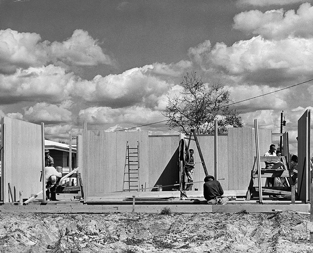 Wilson Residence, Sarasota, Florida. Construction Photo.