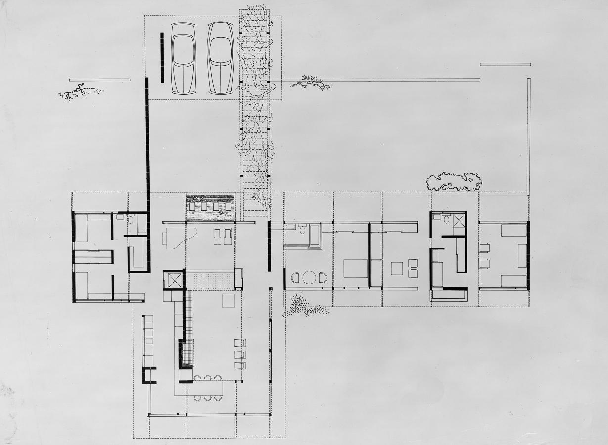 Miller residence, Casey Key, Florida. Floor Plan.