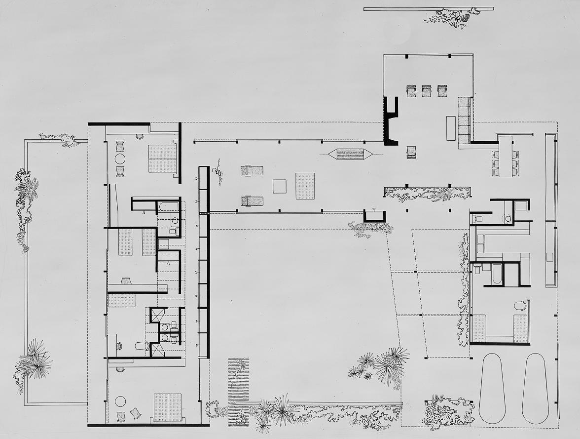 Denman Residence, Siesta Key, Florida. Floor Plan.