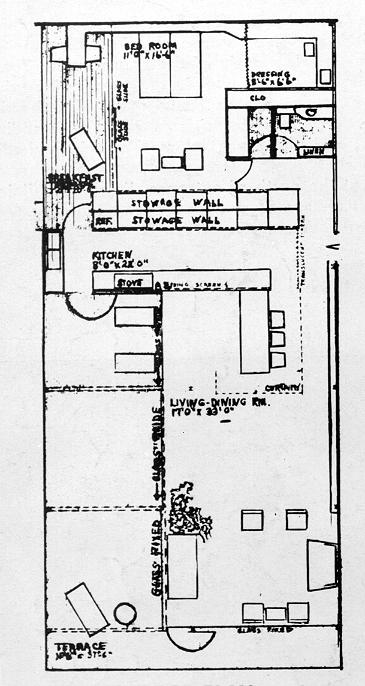 Miller Boathouse, Casey Key, Florida. Second Floor Plan.