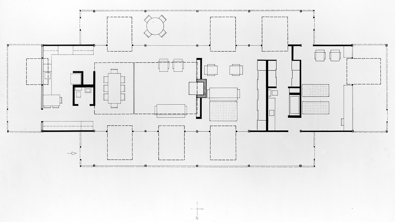 Davidson Residence, Bradenton, Florida. Floor Plan.