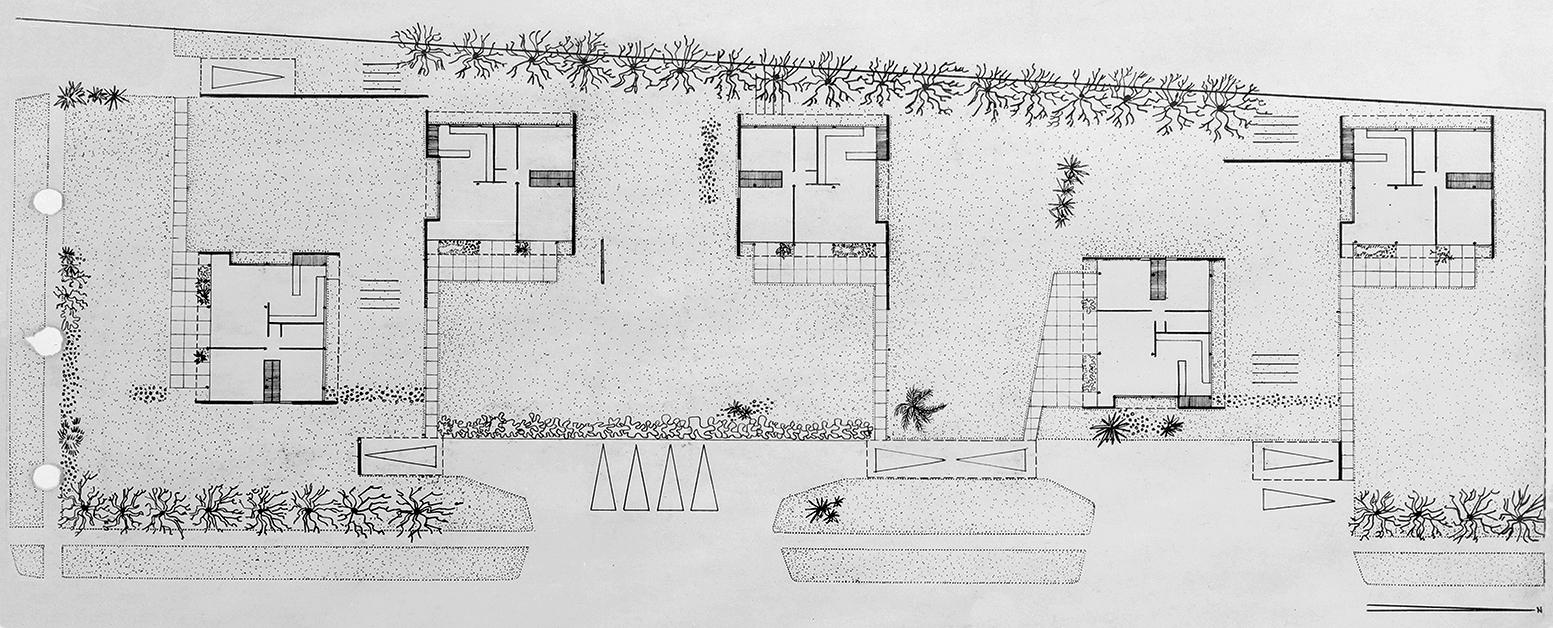 Lambie Beach Development (Lamolithic Houses), Siesta Key, Florida. Site Plan.