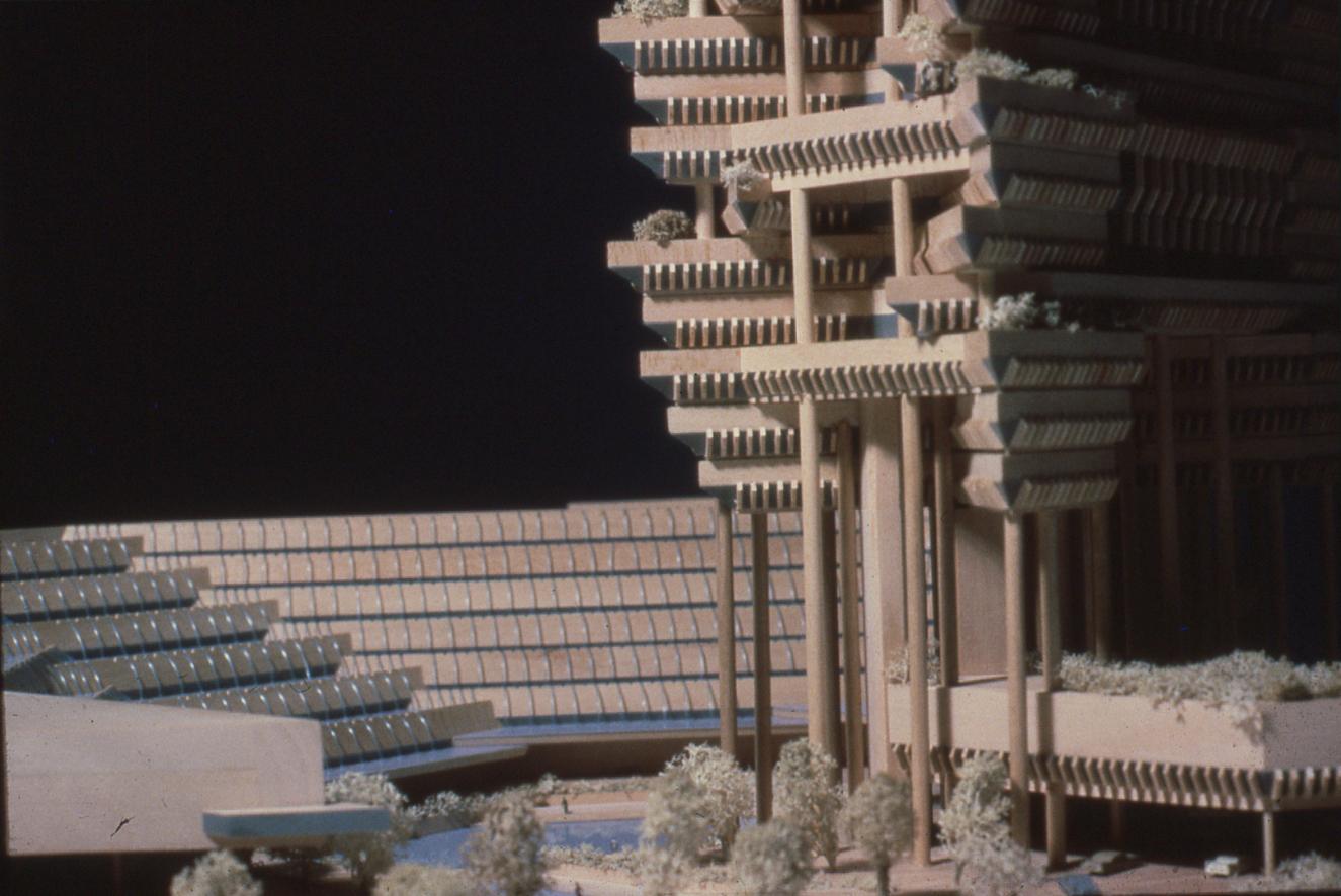 The Concourse, Beach Road, Singapore. First Scheme (Beach Road II). Photo of Presentation Model.