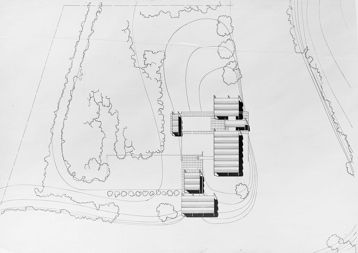 Knott residence, Yankeetown, Florida. Site Plan.