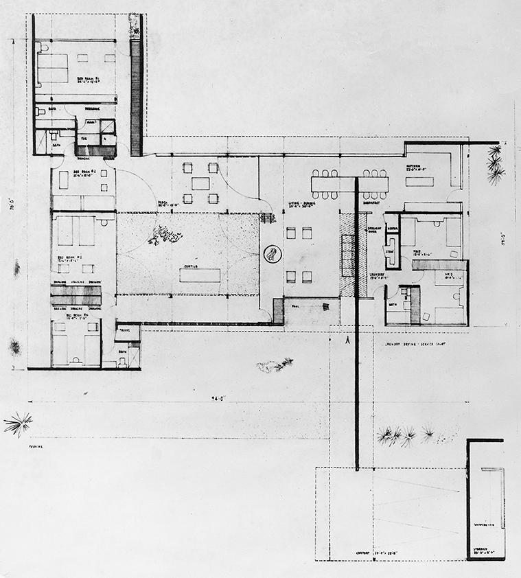 Goar Residence, Sarasota, Florida. Floor Plan.