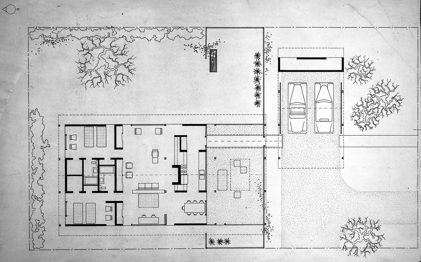 House for Bourne and Company, St. Petersburg, Florida. Floor Plan.