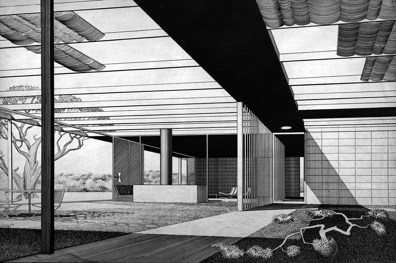 Watson Residence, Gainesville, Florida. Interior Perspective Rendering.