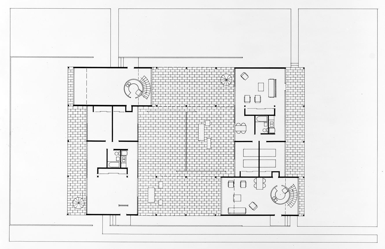 Haywood Apartments, Siesta Key, Florida. First Floor Plan.