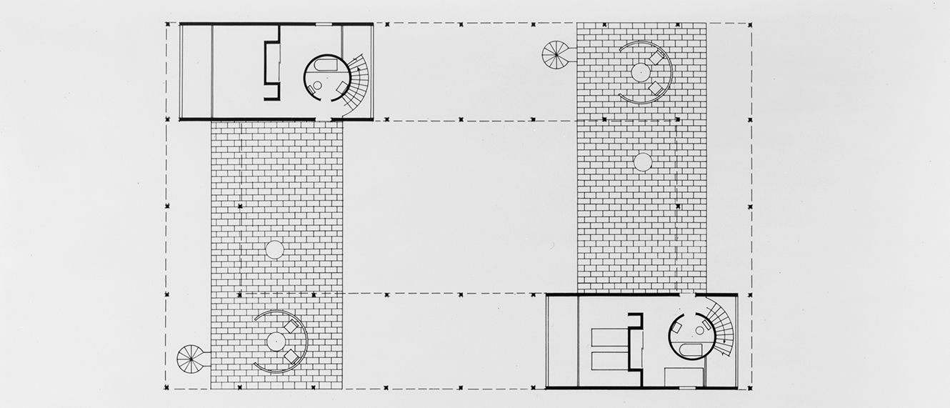 Haywood Apartments, Siesta Key, Florida. Second Floor Plan.