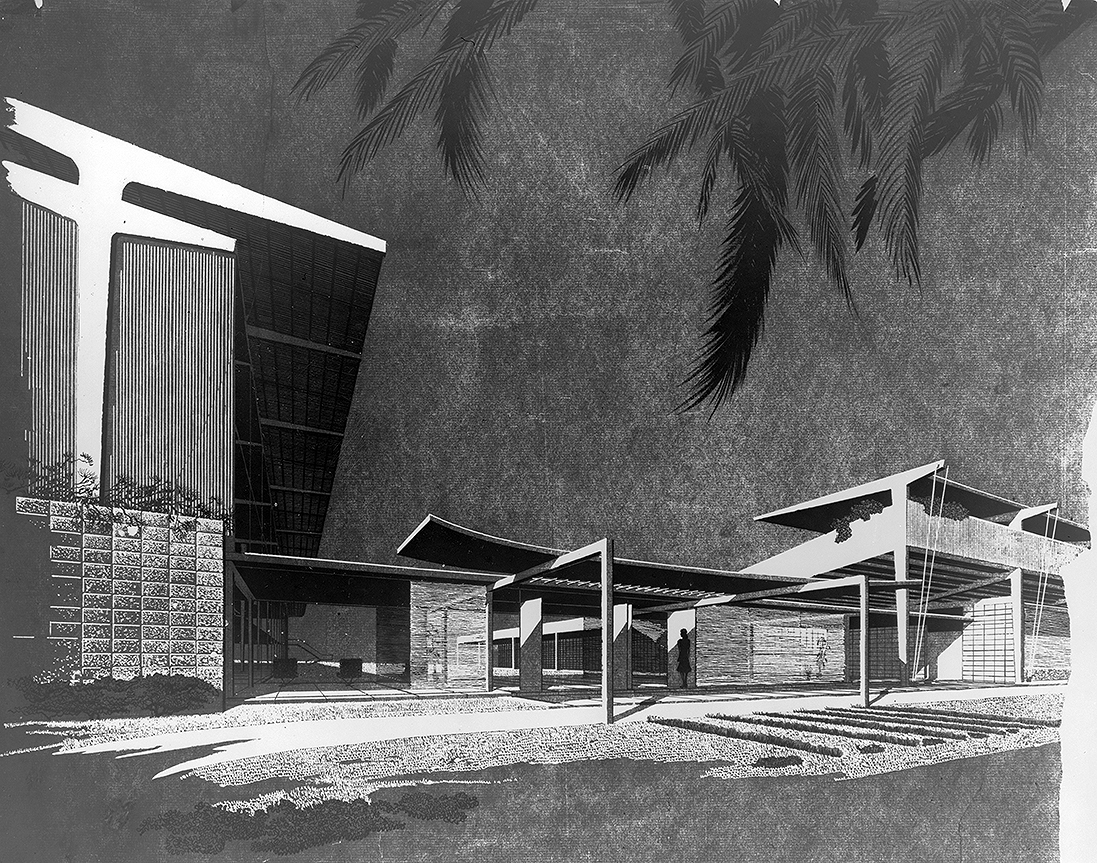 Recreation Center, St. Petersburg, Florida. Exterior Perspective Rendering.