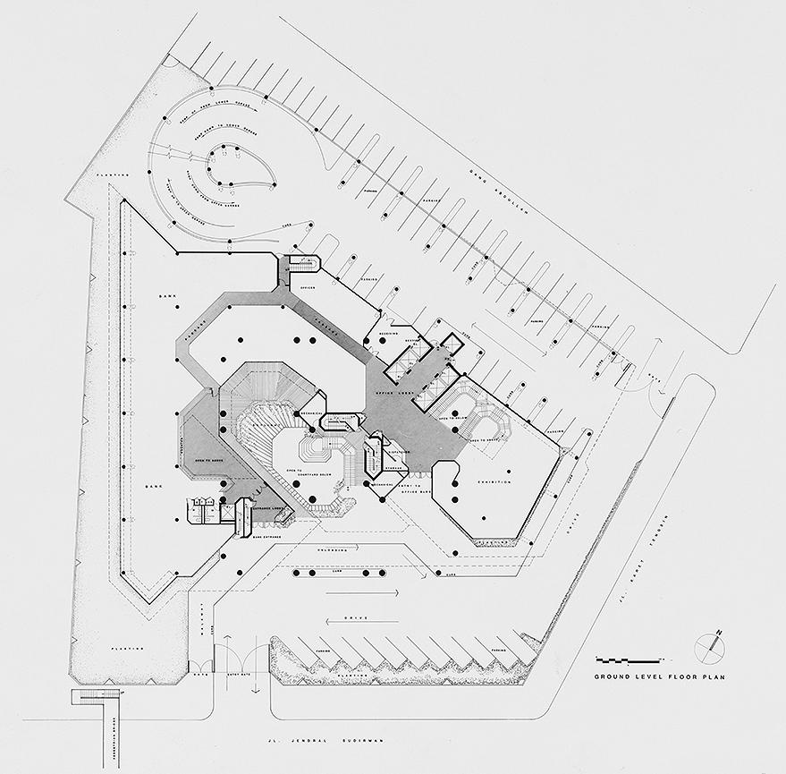 Wisma Dharmala Building, Jakarta, Indonesia. Ground Level Floor Plan.