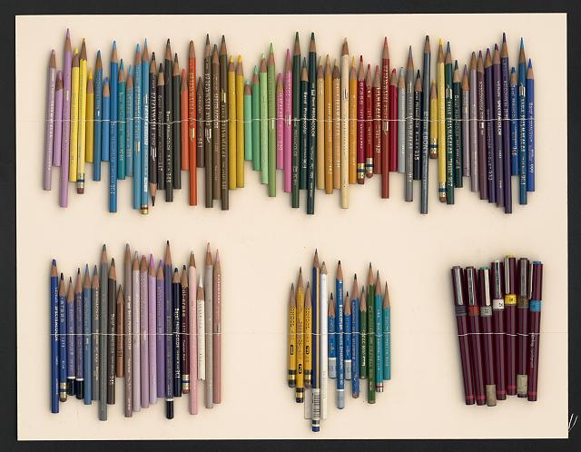 Paul Rudolph's Pencils and Pens. Image: Library of Congress, Prints and Photographs Division