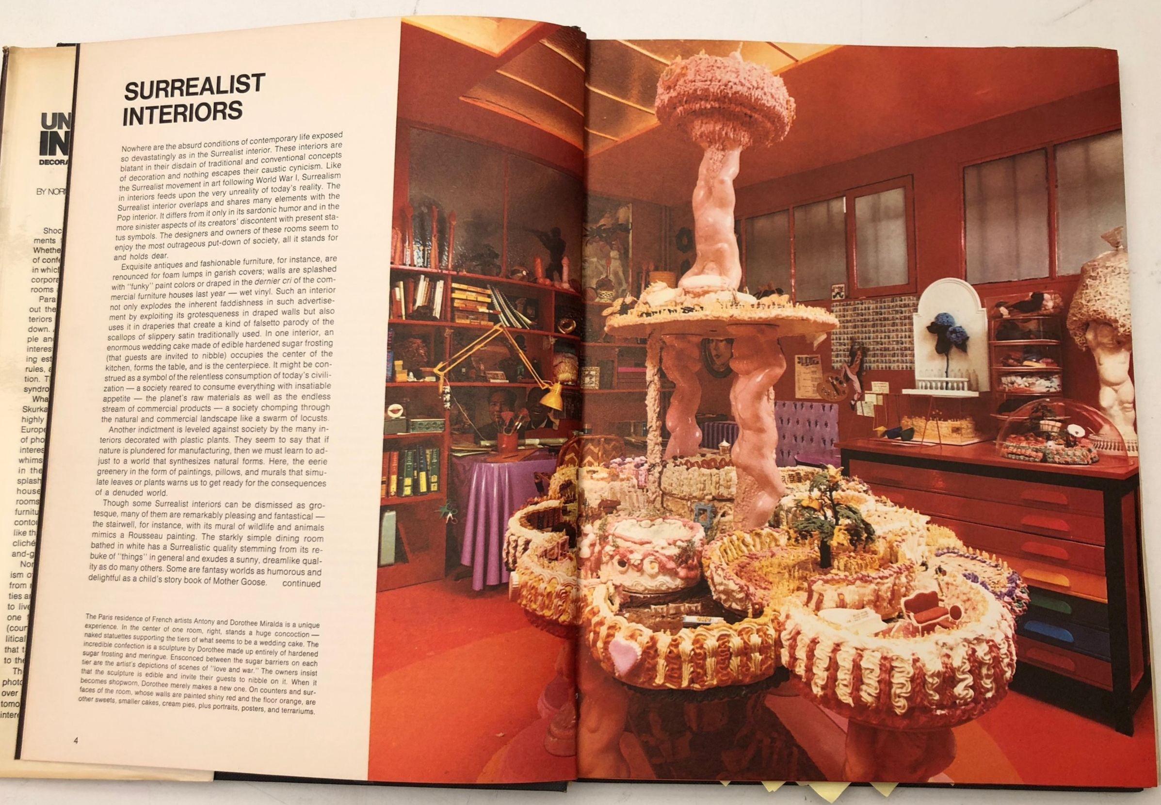 A spread showing the Paris home of Antony and Dorothee Miralda offers treats that are visual (and possibly edible)