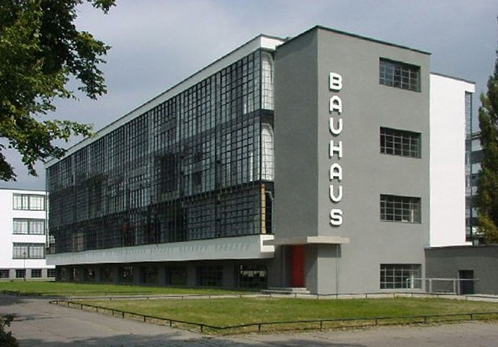 The Bauhaus in Dessau Germany: the second home of the school which Gropius led. The building complex was also his most famous work of architecture (though it is possible that Gropius worked on the project with others—as he was manifestly devoted to collaboration and had a history of design partners.) Photo: Detlef Mewes