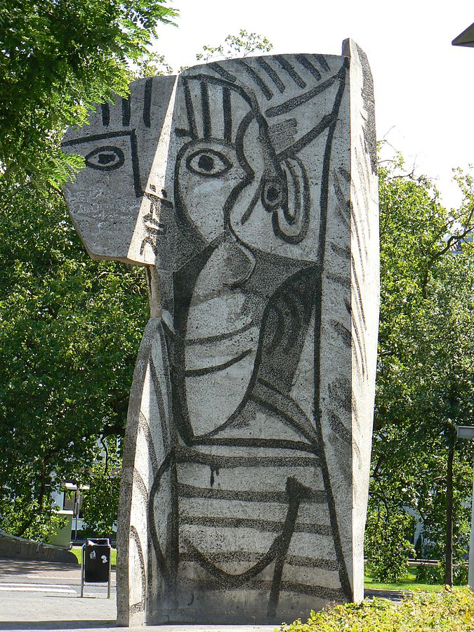 "Picasso's sculpture—also named ""Sylvette"" —in Rotterdam. Image courtesy of Wikipedia, photo by K. Siereveld"