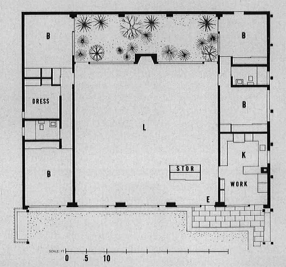McCandlish Residence, Cambridge, Massachusetts.  Floor Plan.