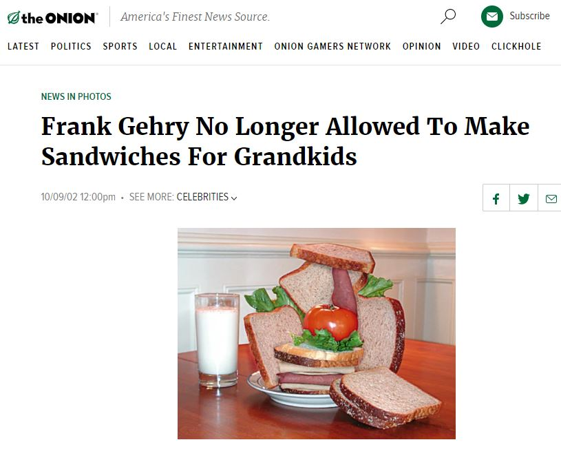 News story courtesy of the   www.theonion.com