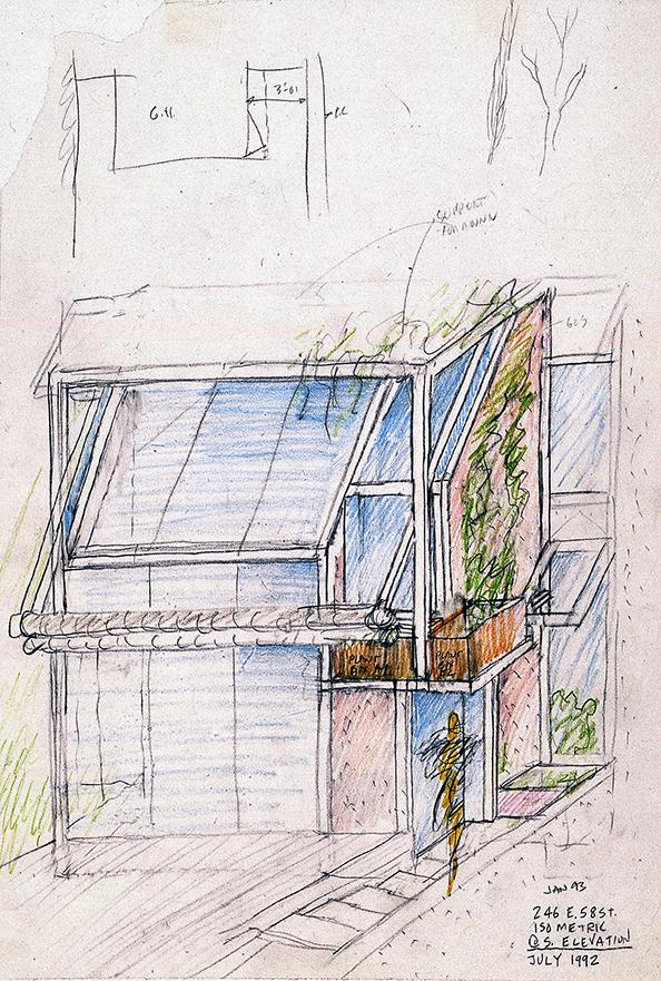 Modulightor, Inc., 246 East 58th St., New York City. Building Facade Study.