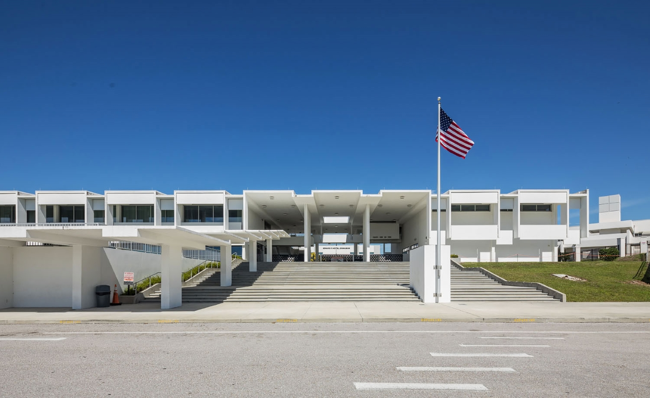 Sarasota High School, Sarasota, Florida. Photo of Building Exterior taken March 3, 2019.