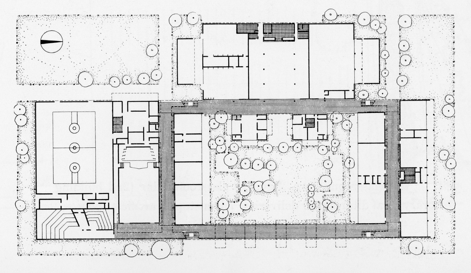 Riverview High School, Sarasota, Florida. First Floor Plan.