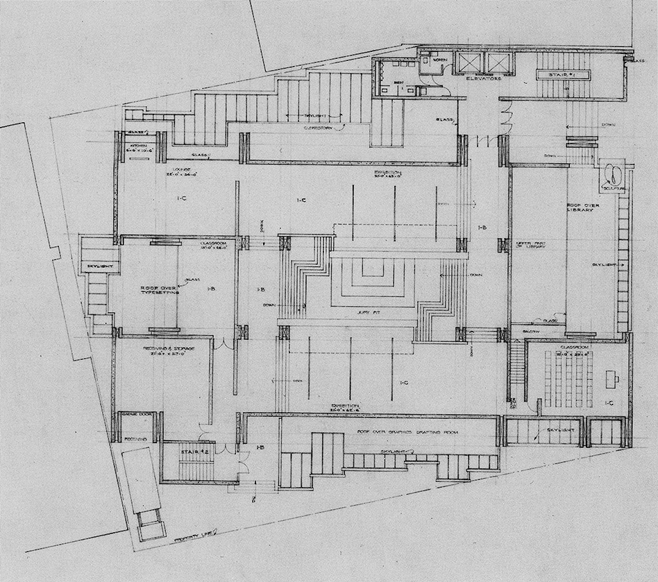 Art and Architecture Building, Yale University, New Haven, Connecticut. Floor Plan of Early Scheme.
