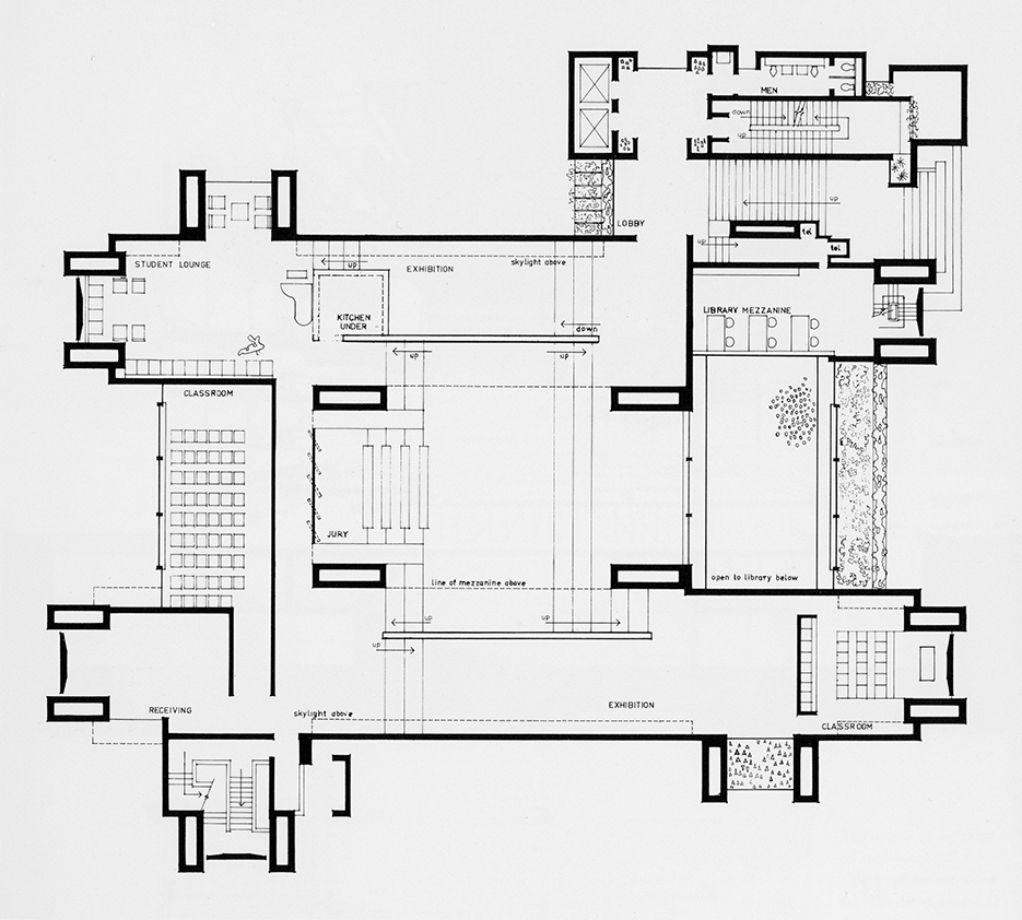 Art and Architecture Building, Yale University, New Haven, Connecticut. Second Floor Plan.