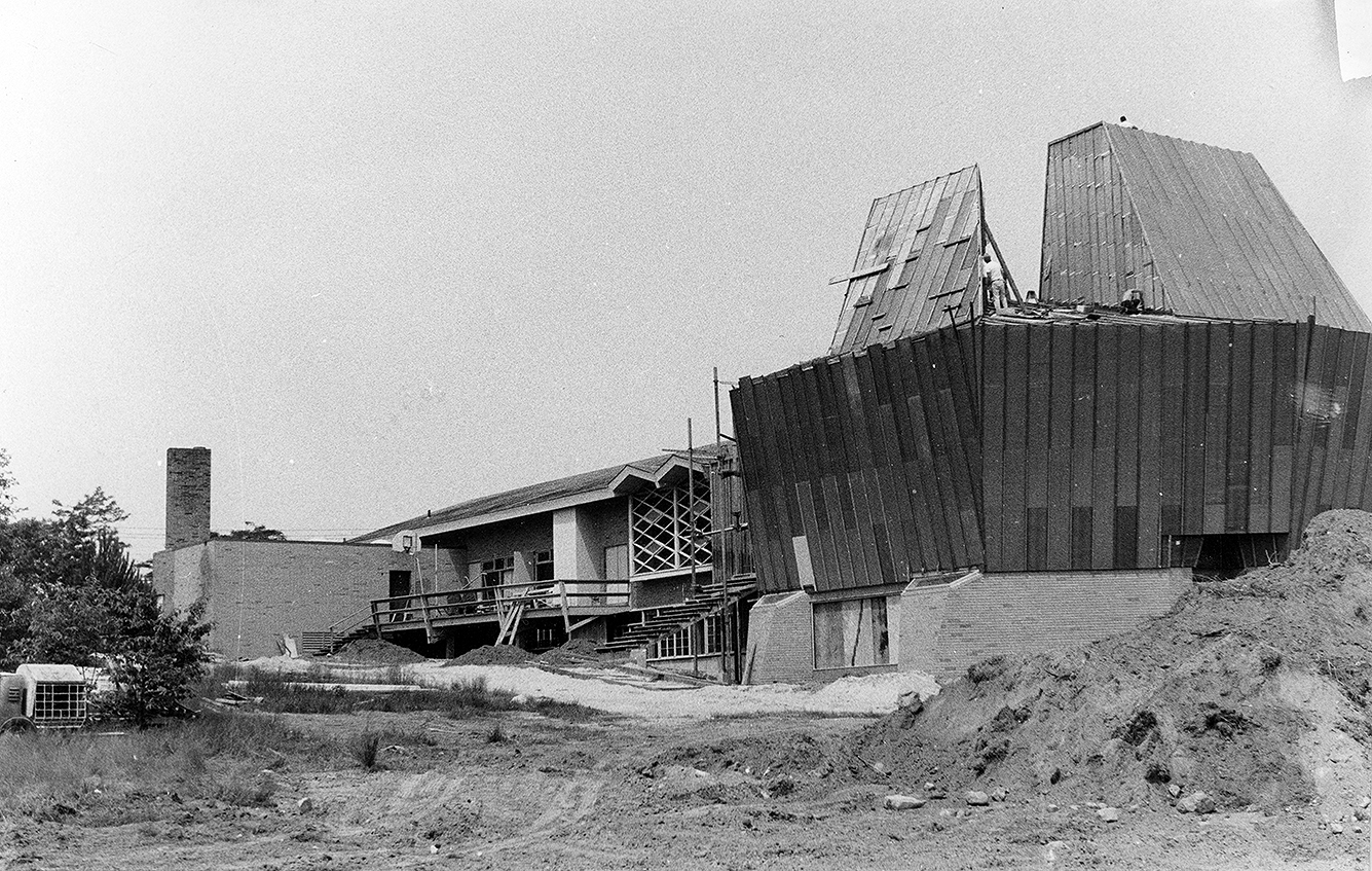 Addition to Beth-El Synagogue, New London, Connecticut. Photo of Construction taken 1970-1971.