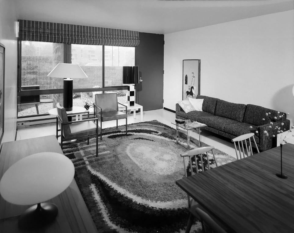 Buffalo Waterfront Housing Project (Shoreline Apartments).  Photo of Building Interior taken July 11, 1972.