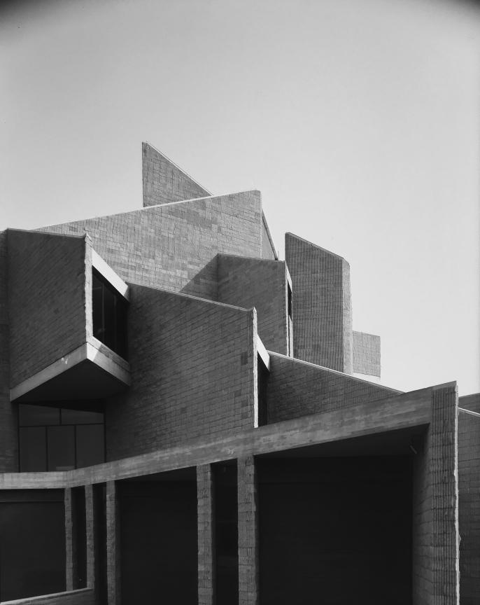 Niagara Falls Public Library, Niagara Falls, NY.  Photo of Building Exterior taken July 11, 1972.