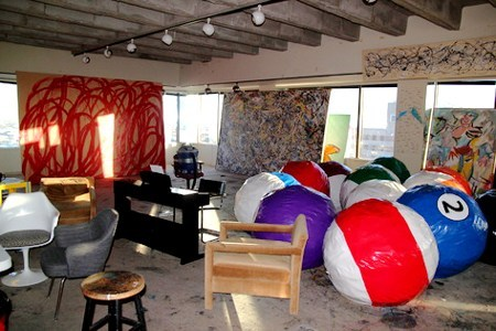 "The office of Stanley Marsh III —an interior Rudolph designed in Amarillo, Texas in 1980. Marsh (1938-2014) was quite a character, and—in his capacity as art patron—is most famous for commissioning the legendary art installation "" Cadillac Ranch "" by the art-design group,  Ant Farm . Marsh also commissioned Rudolph to design  a television station  (also in Amarillo) that was constructed in the same year as the above office. Marsh was a great collector, as one can see in the works accumulated in this photo. But what was Paul Rudolph's involvement in this office's design?  Modulightor —the lighting fixture company that Rudolph co-founded, and whose system of fixtures he designed—was started about the time of this project. So might the lighting system (seen on the office's ceiling) be one that Rudolph planned and then specified from Modulightor? Are there other aspects of the office, not viewable in this shot, that Rudolph designed? More mysteries to be investigated!"