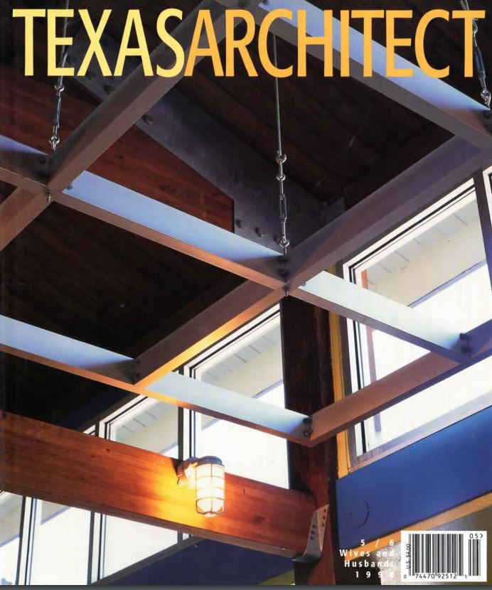 Texas Architect has been published since 1950, and you can access    its full archive of back issues    at their website. It was the above issue that included    Max Gunderson's excellent article surveying Rudolph's work in that state   .