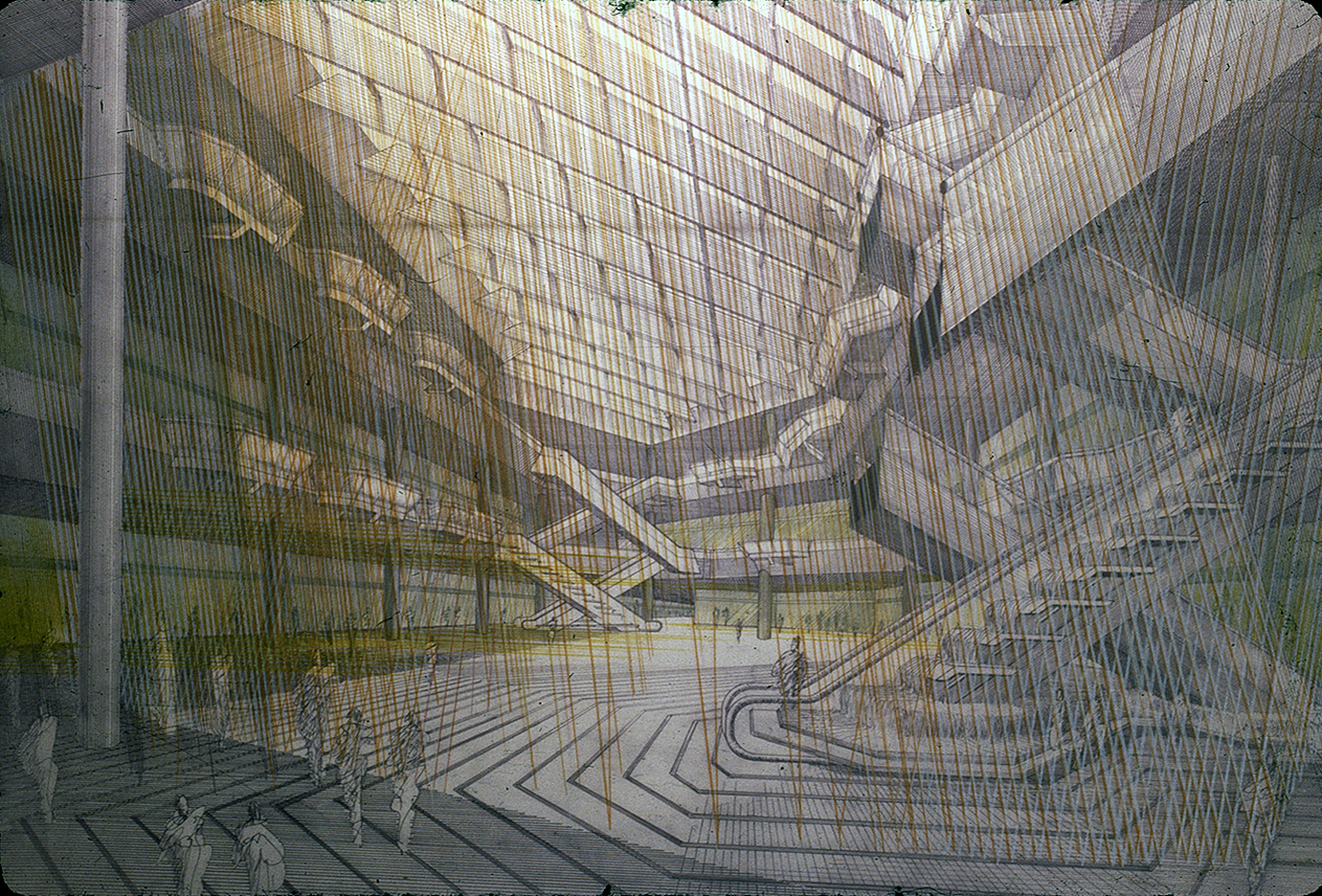 The Concourse, Beach Road, Singapore. Final Scheme. Interior Perspective Rendering of Podium.