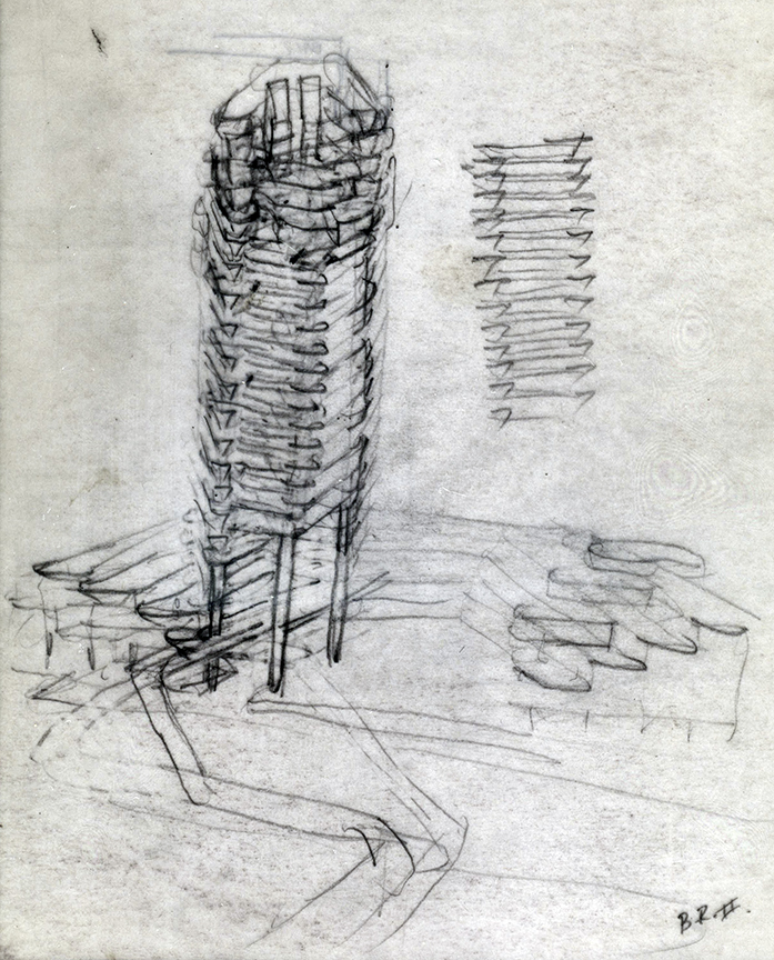 The Concourse, Beach Road, Singapore. Final Scheme. Perspective Sketch.