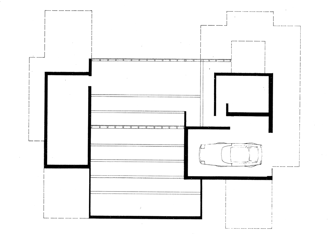 Green residence, Cherry Ridge, Pennsylvania. Ground Floor Plan.