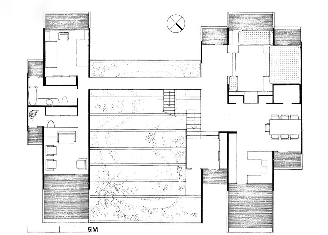 Green residence, Cherry Ridge, Pennsylvania. Second Floor Plan.