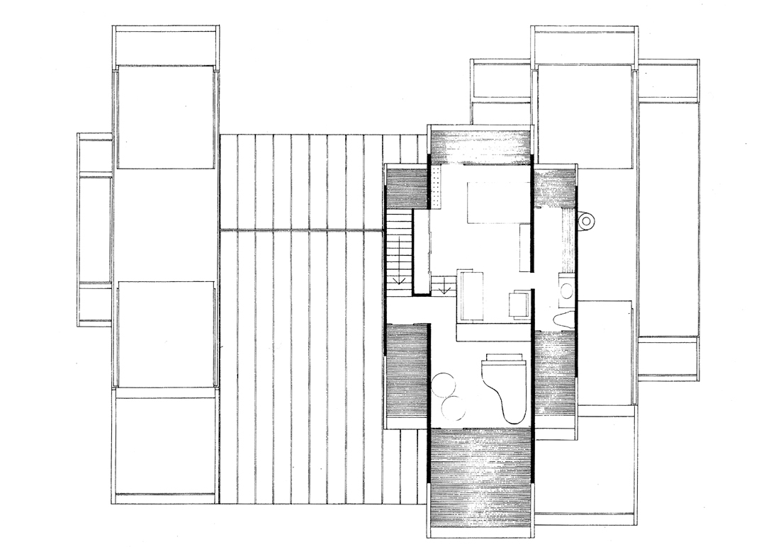 Green residence, Cherry Ridge, Pennsylvania. Third Floor Plan.