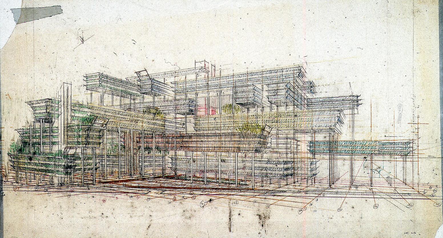 Gatot Subroto office condominiums, Jakarta, Indonesia.  Perspective Rendering.