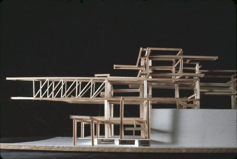 Residence for Mr. and Mrs. Sid R. Bass, Fort Worth, Texas. Photo of Structural Model.
