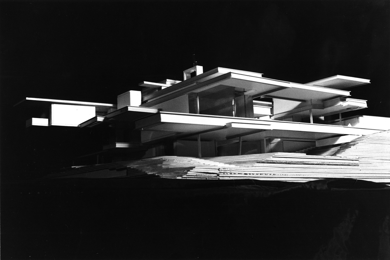 Residence for Mr. and Mrs. Sid R. Bass, Fort Worth, Texas. Photo of Presentation Model.