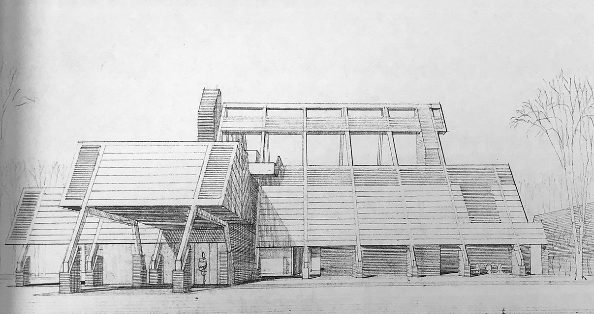 Tuttle Residence, Rock Hall, Maryland. Perspective Rendering of Building Exterior.