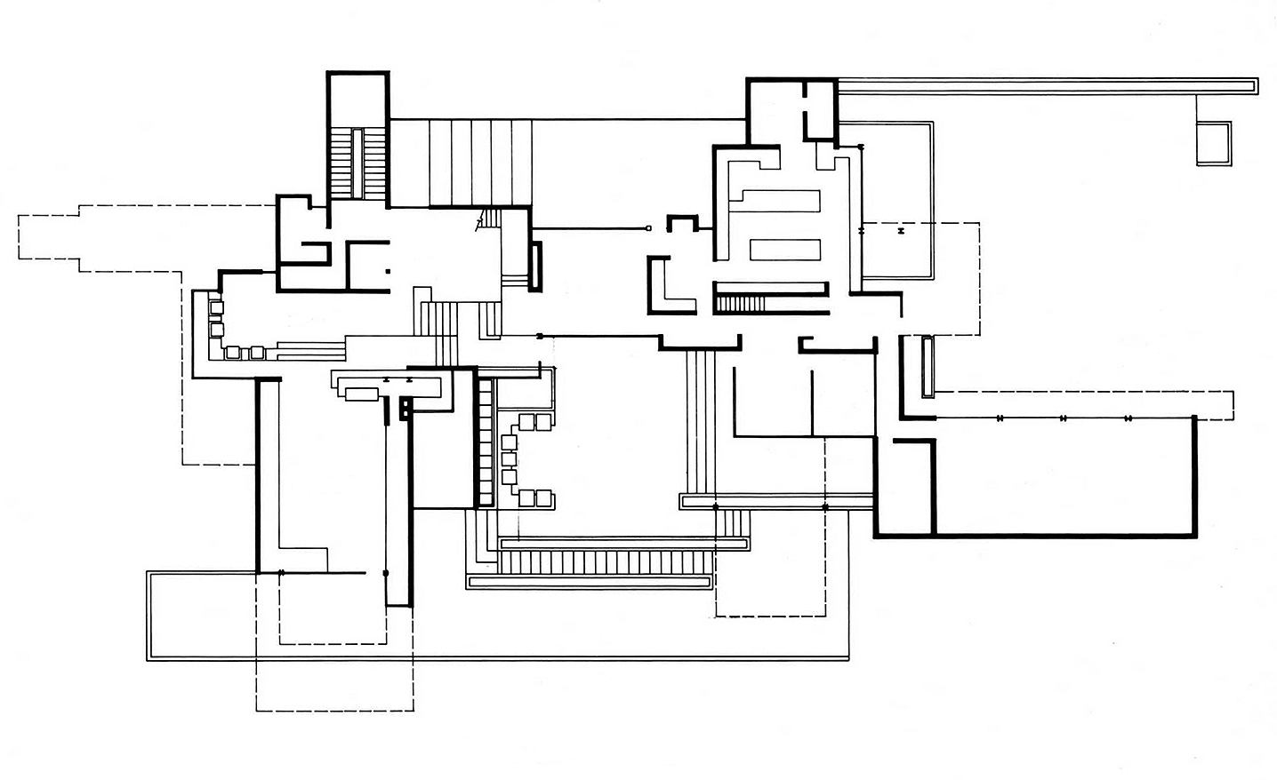 Residence for Mr. and Mrs. Sid R. Bass, Fort Worth, Texas. Floor Plan Presentation Drawing.