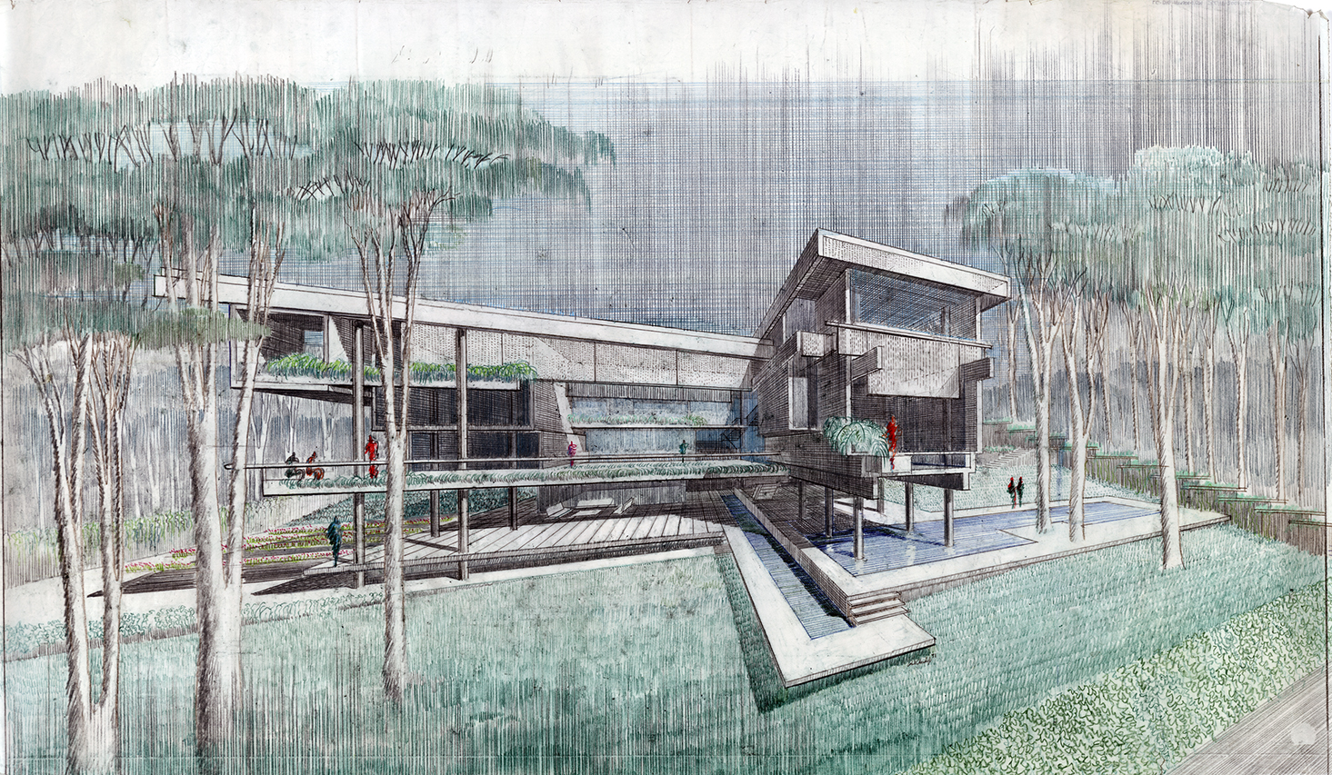 Wee Ee Chao Residence, Singapore.  Exterior Perspective Rendering.