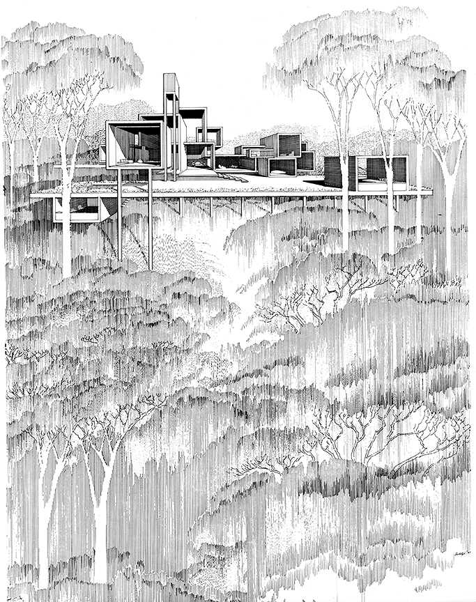 Callahan Residence. Birmingham, Alabama. Perspective Rendering.